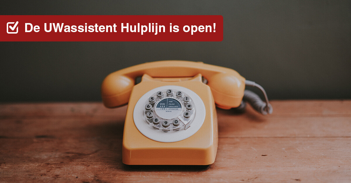 De UWassistent Hulplijn is open!